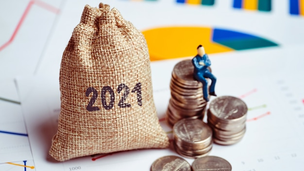 Le concept de capital et de réussite commerciale en 2021.