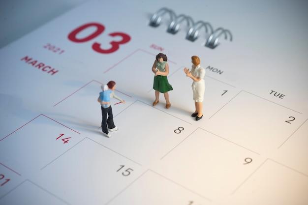 Concept de célébration de la journée des femmes heureux.journée internationale de la femme - 8 mars