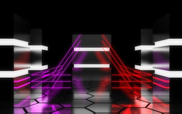 Concept de centre de données futuriste. illustration 3d
