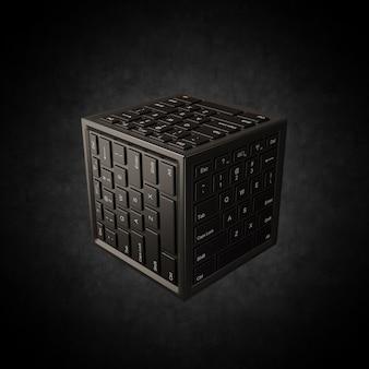 Concept de centre de données mis en évidence sur fond noir