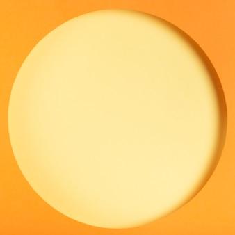 Concept de cercle de papier coloré vue de dessus