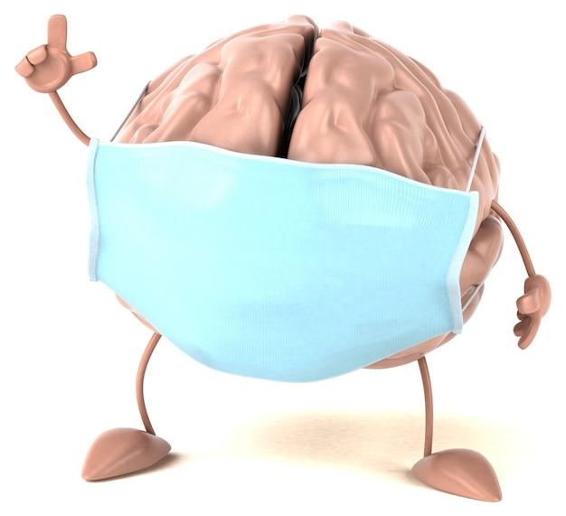 Concept d & # 39; un cerveau avec un masque