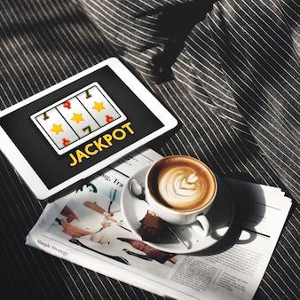 Concept de chance de casino en ligne