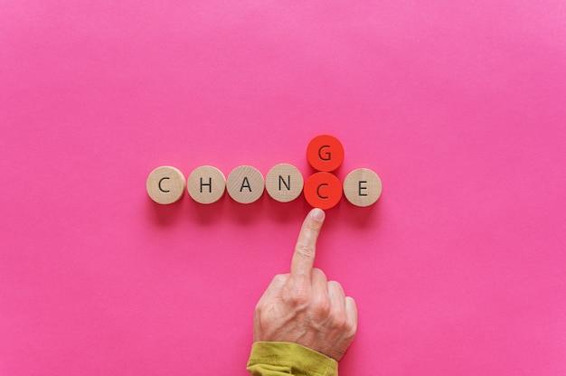 Concept de changement et d'opportunité
