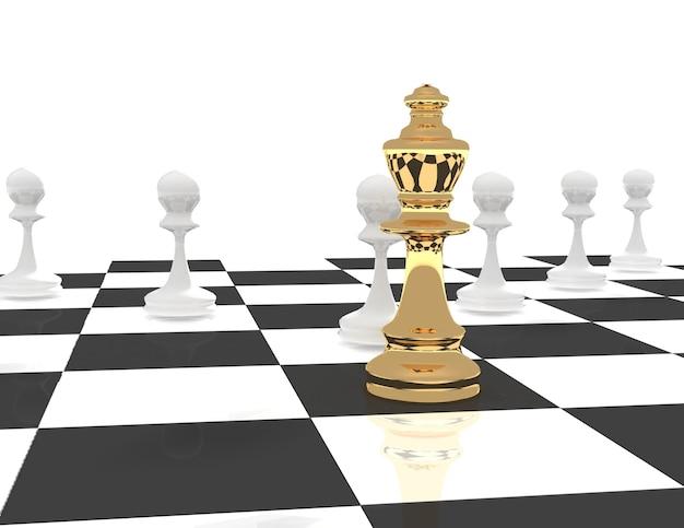 Concept de chef d'échecs 3d