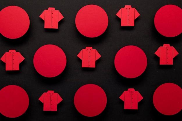 Concept de chemise et de points de vendredi noir