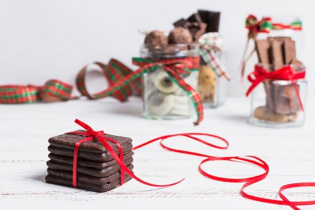 Concept de chocolat et de noël