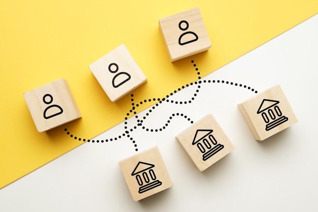 Le concept de choisir une banque par les clients comme entreprise compétitive.