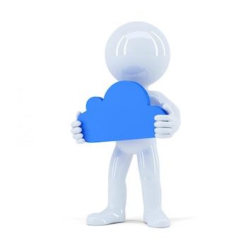 Concept de cloud computing. isolé. contient un tracé de détourage