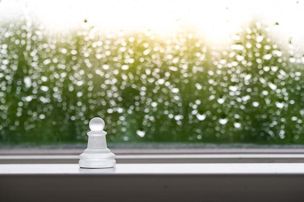 Concept commercial d'échecs, leader et succès
