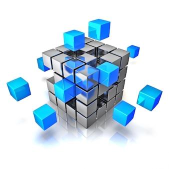 Concept de communication internet travail d'équipe entreprise