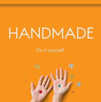 Concept de compétences d'activités artisanales à la main bricolage
