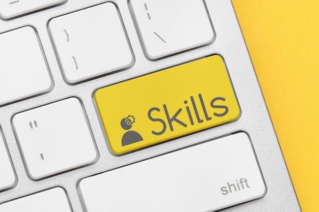 Concept de compétences sur le bouton du clavier