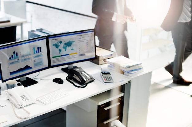 Concept de comptabilité d'entreprise de stratégie de lieu de travail