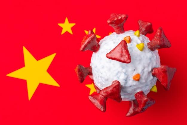 Concept de coronavirus en chine