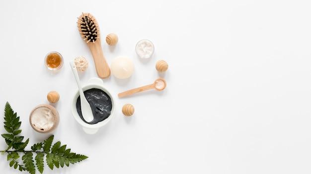 Concept de cosmétiques naturels avec espace copie