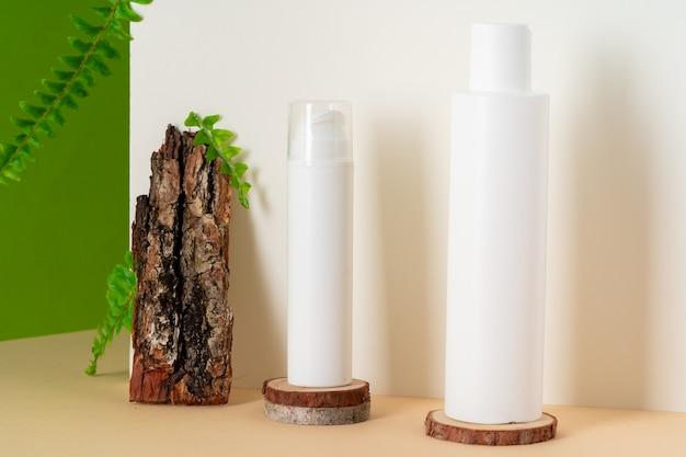 Concept de cosmétiques naturels respectueux de l'environnement, espace copie