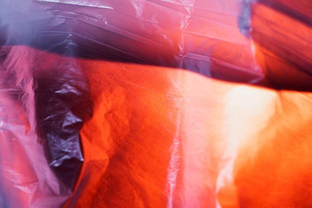 Concept de couleur de sac en plastique
