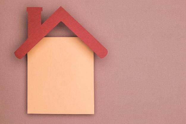 Concept de coupe de papier maison nature morte