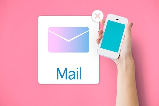 Concept De Courrier électronique De Notification De Communication De La Boîte De Réception Photo gratuit
