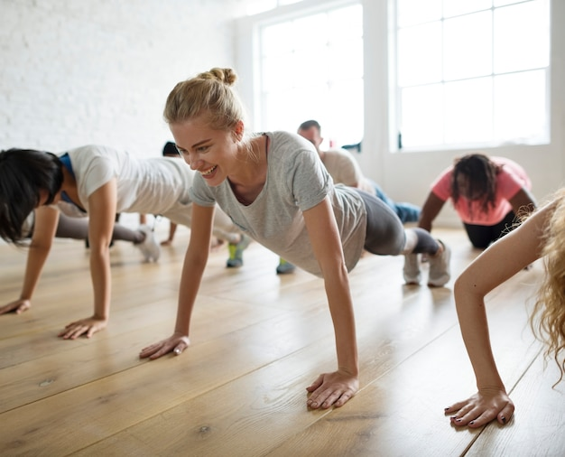 Concept de cours de yoga