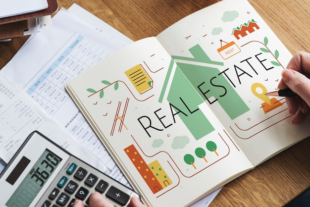 Concept de courtage immobilier