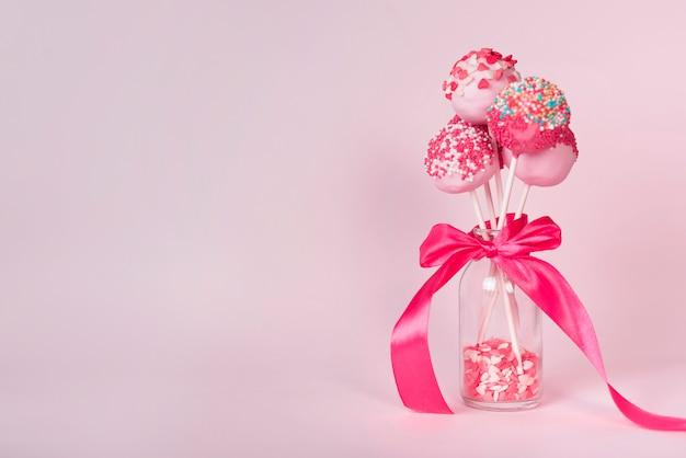 Concept créatif de gâteau pop