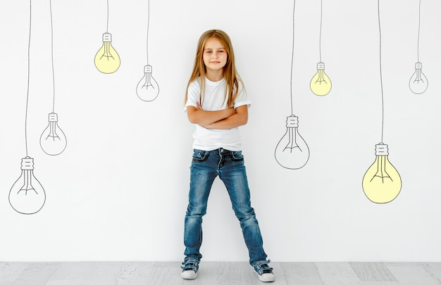 Concept de créativité esprit et idées de l'enfant
