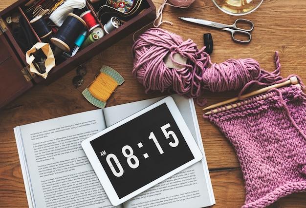 Concept de crochet artisanat fait à la main