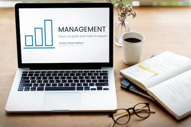 Concept de croissance de l'information d'évaluation d'entreprise
