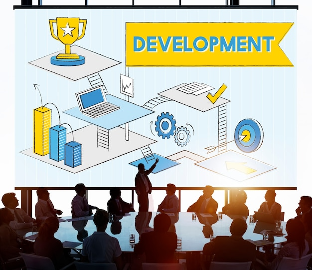Concept De Croissance De La Stratégie D'amélioration Du Développement Photo gratuit