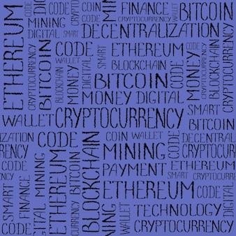 Concept De Crypto-monnaie Texture De Technologie De Financement Blockchain Photo Premium