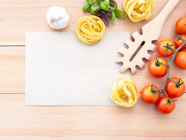 Concept de cuisine italienne et conception de menus.