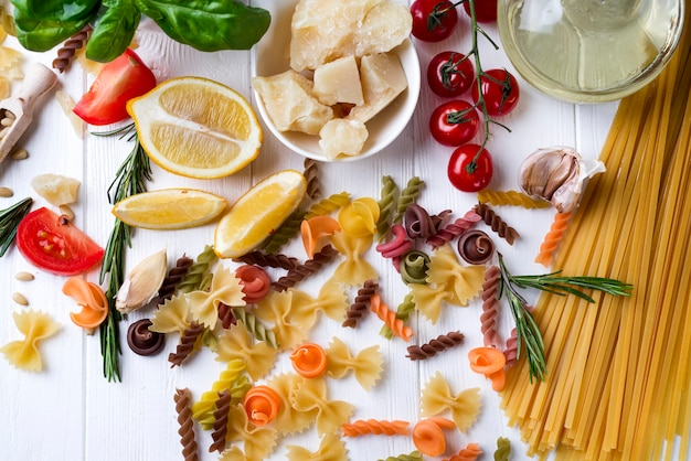 Concept de cuisine italienne