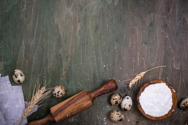Concept de cuisson avec rouleau à pâtisserie