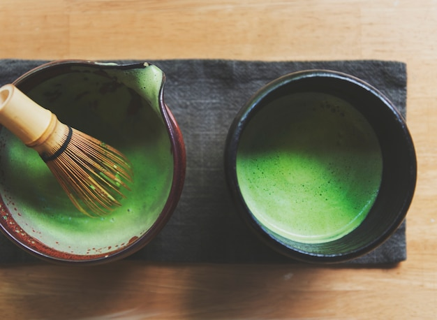 Concept de culture traditionnelle du matcha au japon