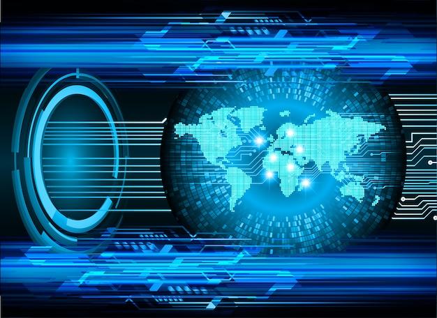 Concept de cyber-sécurité mondiale, cadenas fermé sur fond numérique,