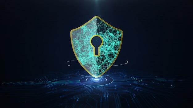 Concept de cybersécurité de protection des données.