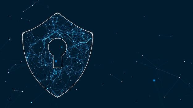 Concept de cybersécurité réseau de technologie internet de protéger les attaques de virus informatiques