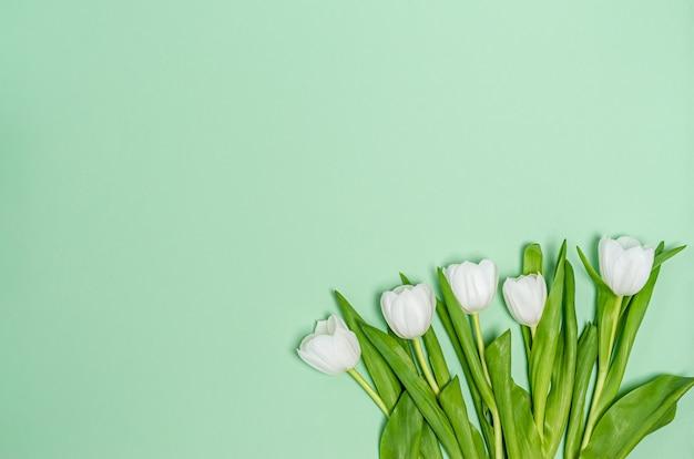 Concept de décoration bouquet de tulipes blanches