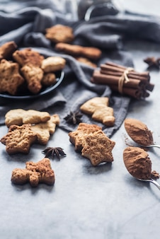 Concept de délicieux cookies de noël
