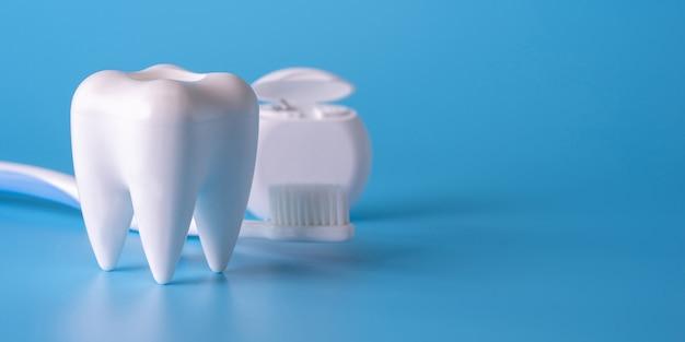 Concept dentaire matériel sain outils soins dentaires bannière professionnel