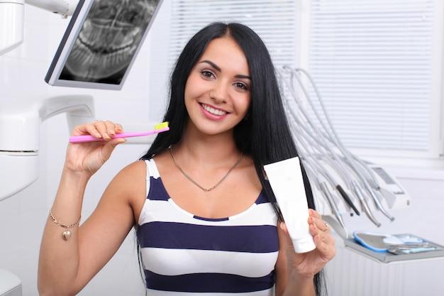 Le concept de dents saines.