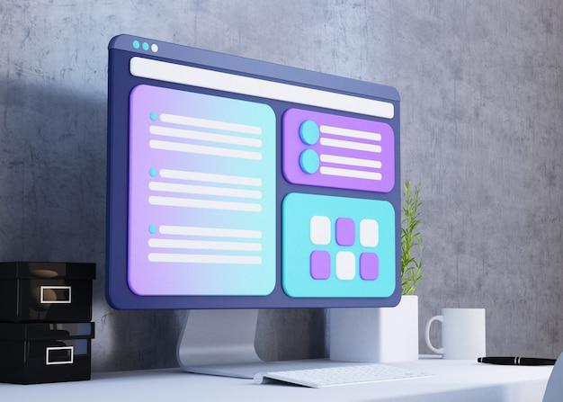 Concept de design de site web ux