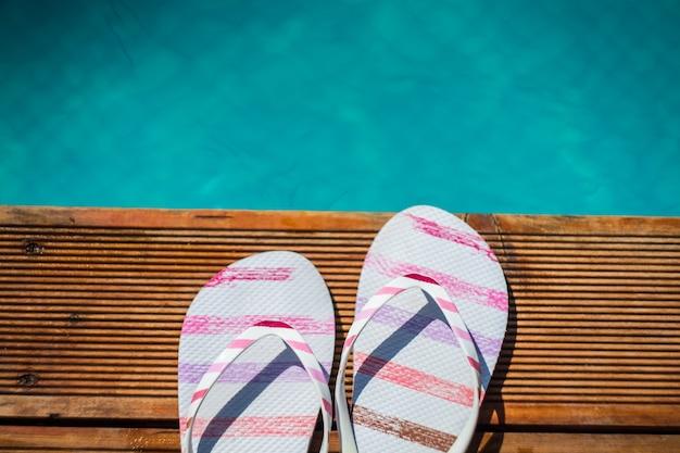 Concept détente piscine