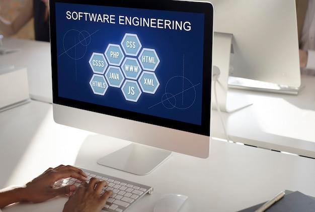 Concept de développement de codes informatiques de programmation informatique