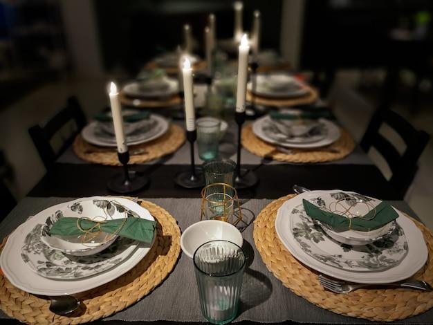 Concept de dîner de famille de noël.