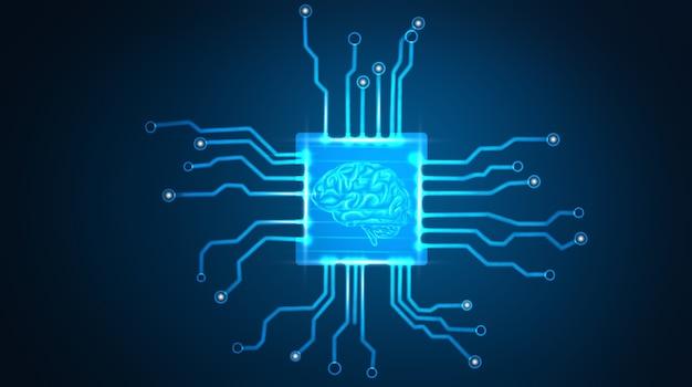 Concept de données volumineuses et d'intelligence artificielle.