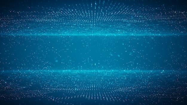 Concept de données volumineuses de technologie abstraite. graphique de mouvement pour centre de données abstrait, flux de données. transfert de big data et stockage de blockchain, serveur, internet haut débit. rendu 3d.