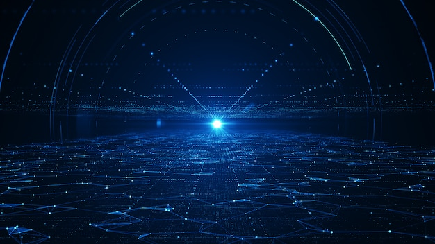 Concept de données volumineuses de technologie abstraite.